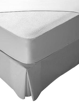 Pikolin Home - Protector de colchón rizo, 100% algodón, impermeable y transpirable, 140 x 190/200 cm, cama 140 cm (Todas las medidas): Amazon.es: Hogar