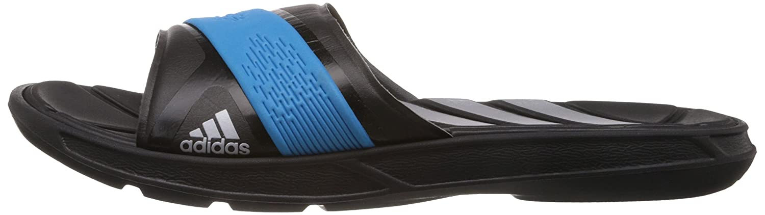 91ecd25be4c9dc ... where can i buy adidas mens nitrocharge slide m black metallic silver  and solar blue flip