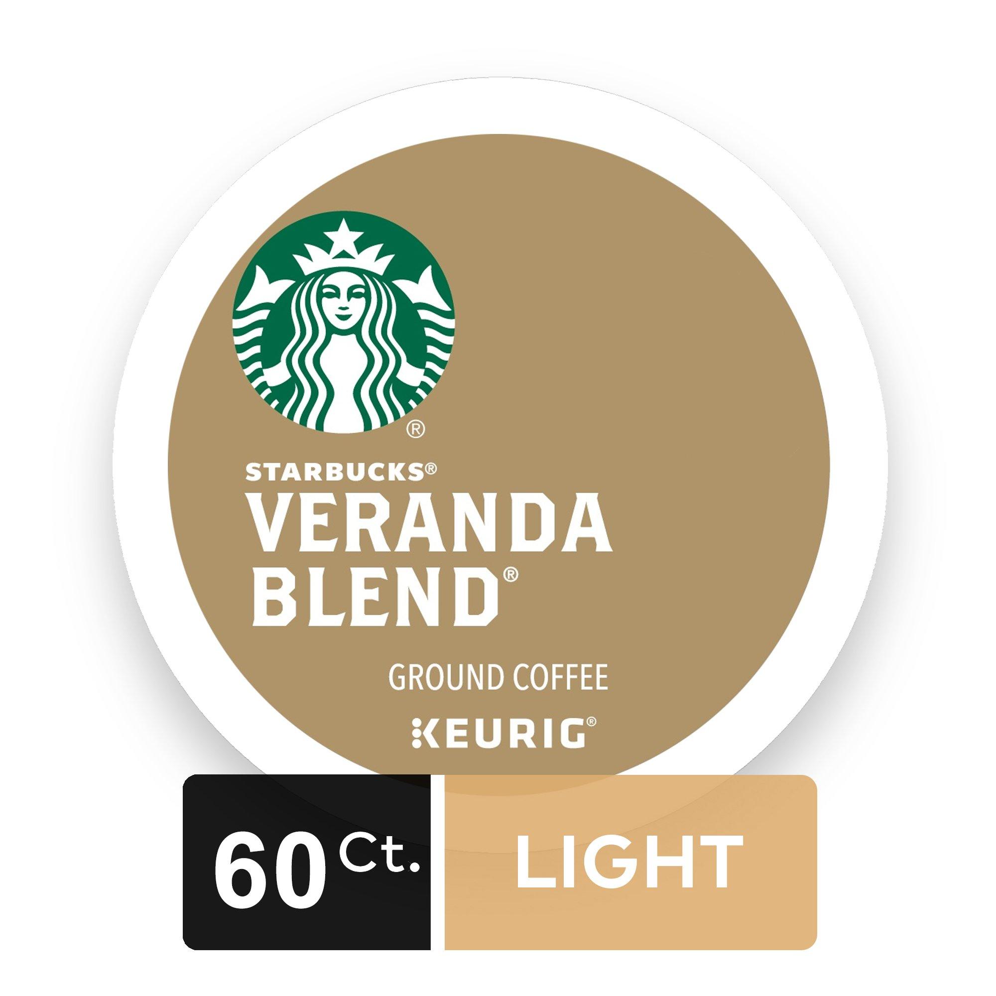 Starbucks Veranda Blend Blonde Light Roast Single Cup Coffee for Keurig Brewers, 6 Boxes of 10 (60 Total K-Cup pods)