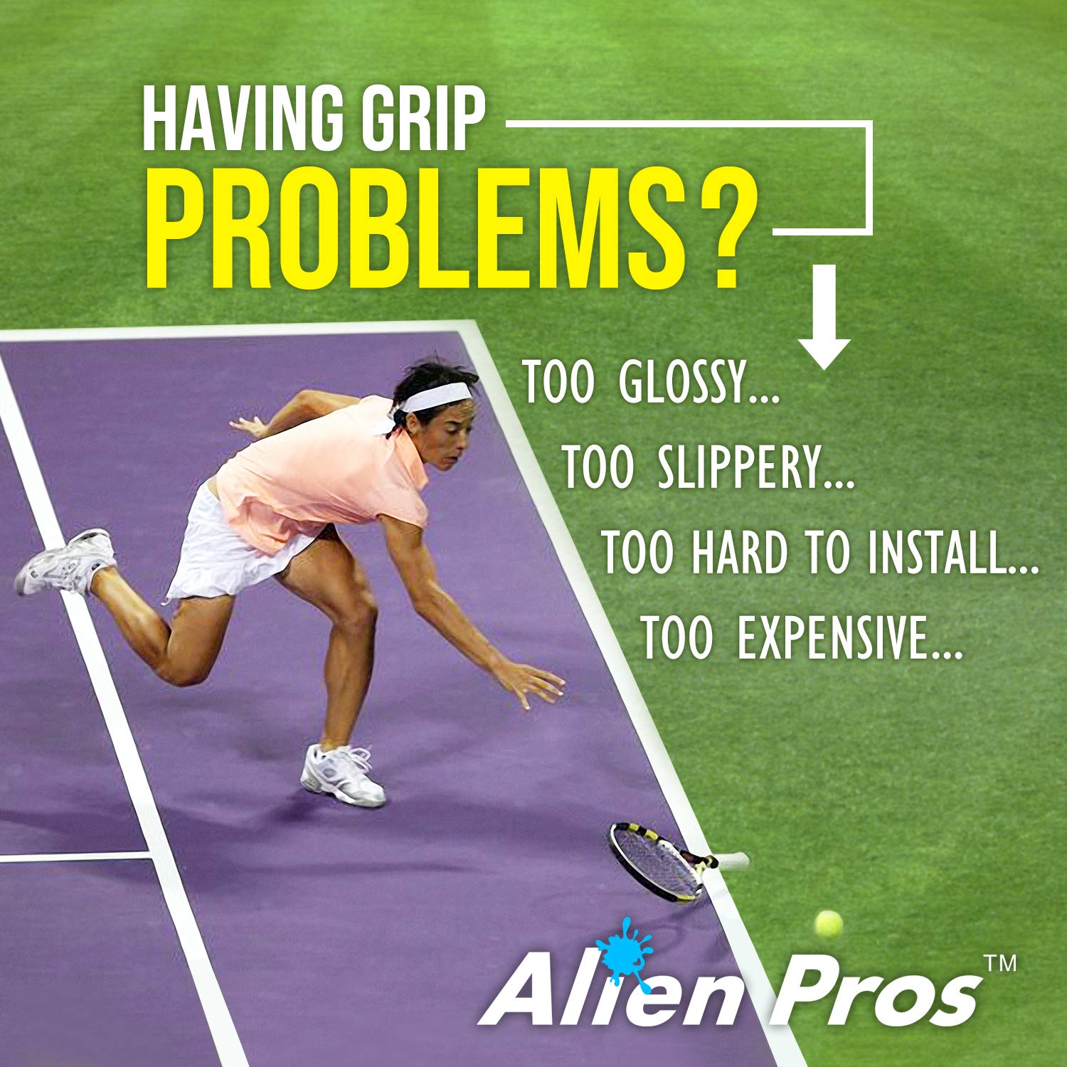 Amazon.com : Alien Pros Tennis Grip Tape for Rackets - (1 Grip) Precut and Dry Feel Overgrip - Replacement for Old Overwraps - Wrap Your Racquet for High ...