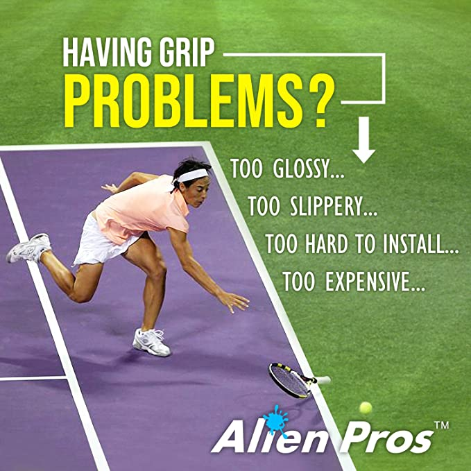 Amazon.com : Alien Pros Tennis Grip Tape for Rackets - Precut and Dry Feel Overgrips - Replacement for Old Overwraps - Wrap Your Racquet for High ...