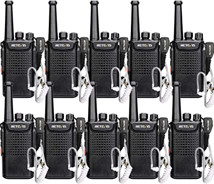 1 Pcak Retevis RT67 Walkie Talkie Rechargeable Long Range UHF FRS 16 Channel VOX USB 3000 mAh Battery 2 Way Radio