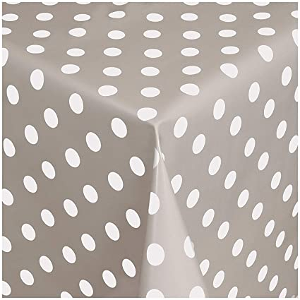 Green Polka Dot Spots PVC Vinyl Wipe Clean Tablecloth Oilcloth ALL SIZES