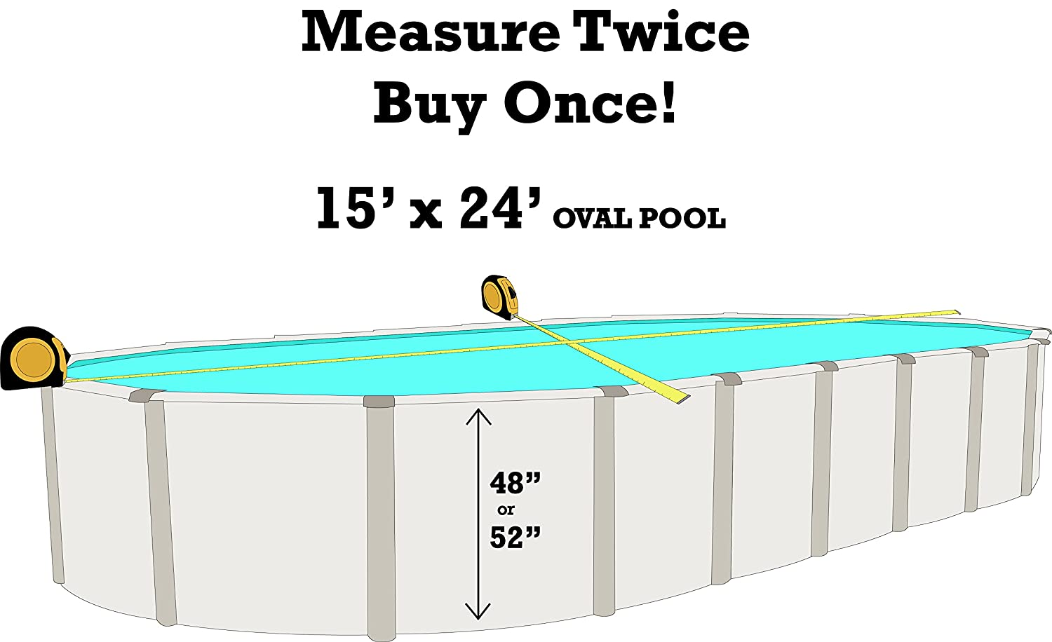 20 Gauge Virgin Vinyl Smartline Boulder Swirl 10-Foot-by-15-Foot Oval Liner 48-to-52-Inch Wall Height Universal Gasket Kit Designed for Steel Sided Above-Ground Swimming Pools Overlap Style