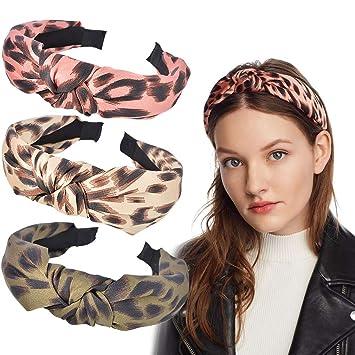 HANDMADE *ORANGE LEOPARD* Women Headband Hair Accessory Hair Band With Elastic