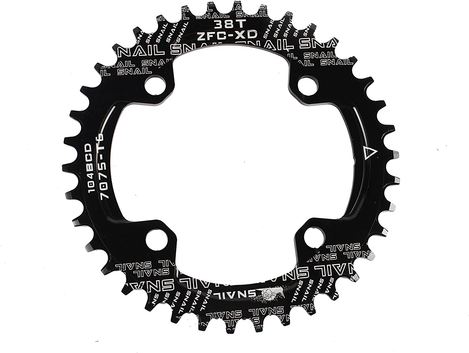 Narrow Wide Round Oval Single Chainring Chain Ring BCD 96//104mm 32 34 36 40 42T