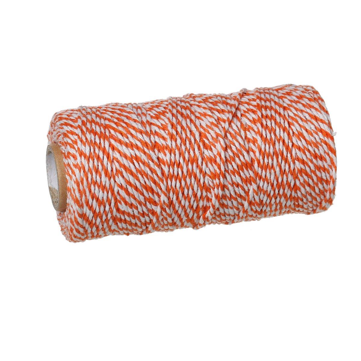 wei/ß gestreift 92m Schnur aus Baumwolle grau 1,5mm dick SiAura Material /®