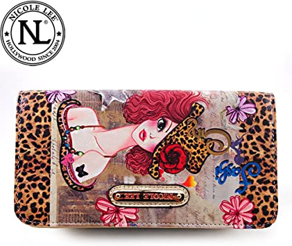 Coney Island Boardwalk Women/'s Leather Wallet Coney Island Collection Microfiber Leather Magnetic Snap Closure Photographic Print
