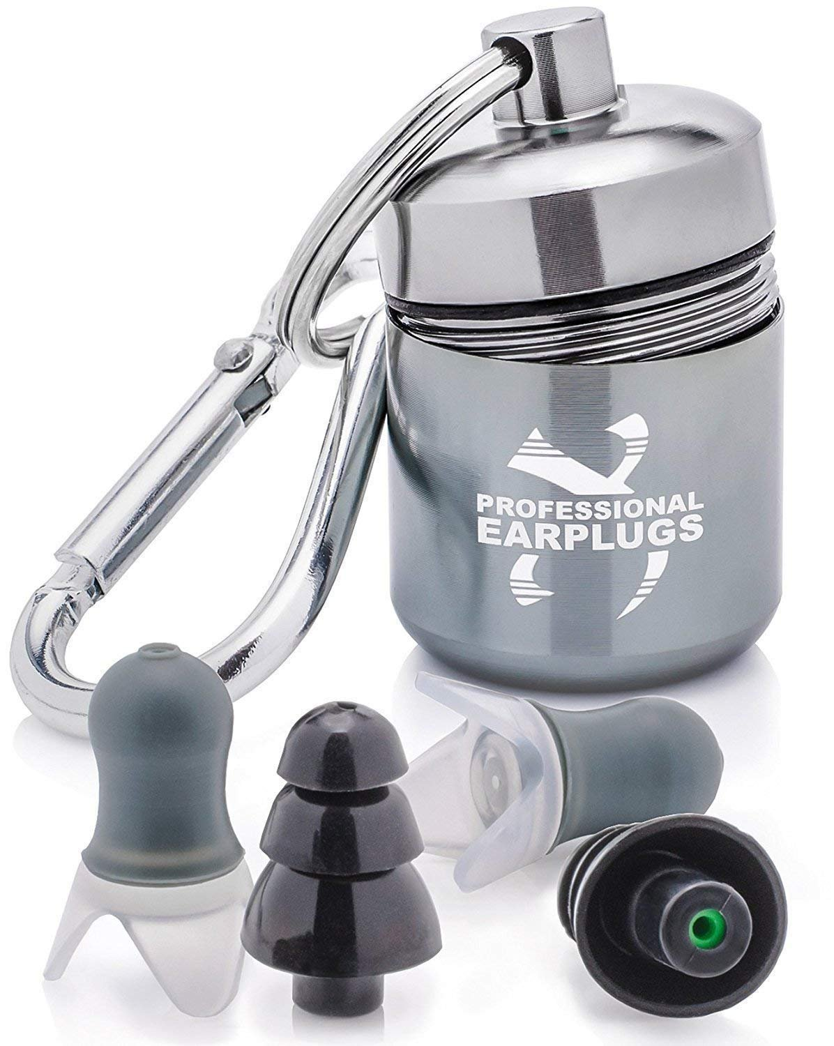 Noise Cancelling Ear Plugs for Sleeping - High Fidelity Silicone Earplugs Musicians'