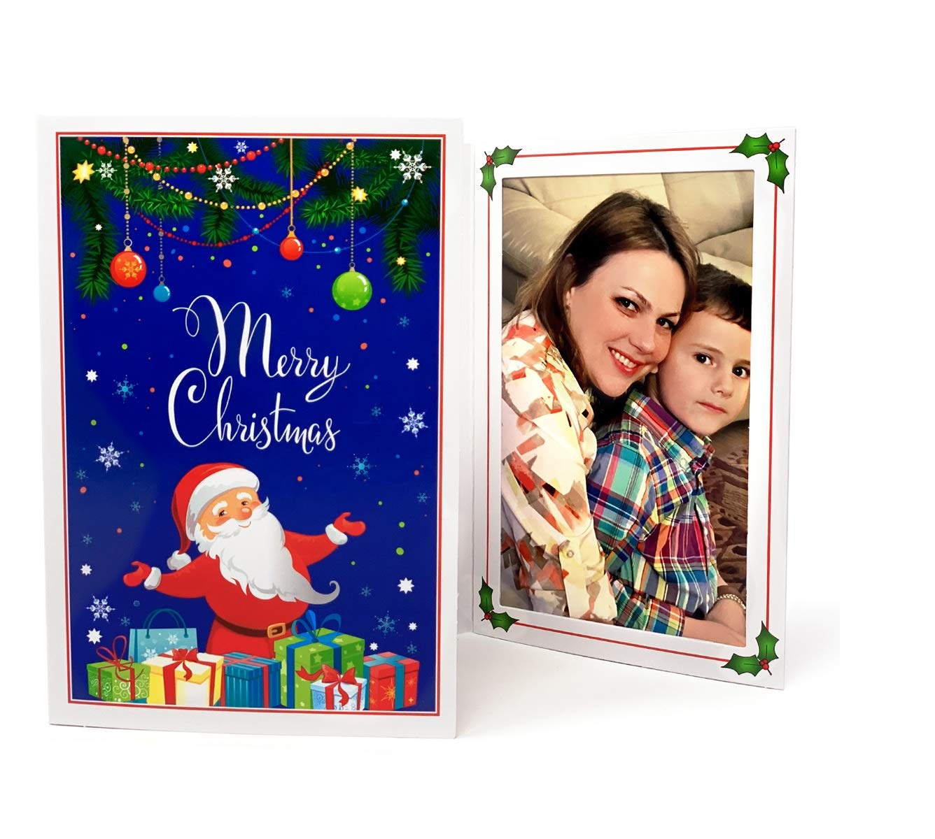 Santa Claus Sleigh 4x6 Photo Folder - Pack of 100 folders (Slide-in Insert Type). These Beautiful Holiday Photo folders are Great for Christmas Parties and Santa Portraits! by Tapan