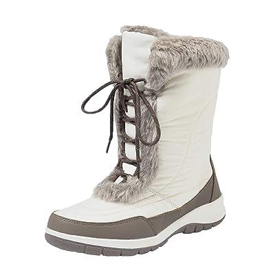 Shenda Women's Mid-Calf Nylon Fabric Snow Boots E7629 | Mid-Calf