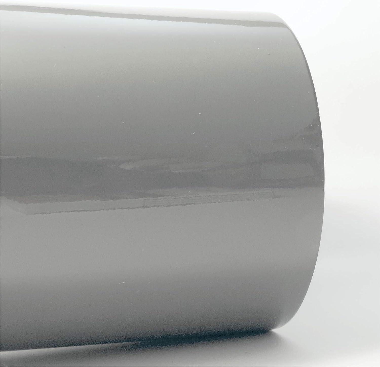 Siviwonder Zierstreifen Grau Telegrau Ral 7045 Glanz In 5 Mm Breite Und 10 M Länge Folie Aufkleber Für Auto Boot Jetski Modellbau Klebeband Dekorstreifen Grey Mittelgrau Auto