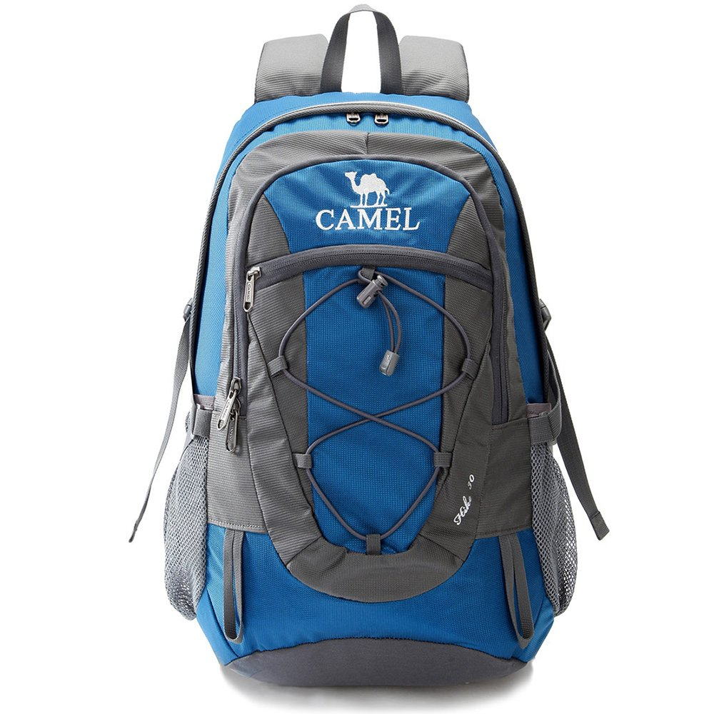 CAMEL CROWN 30L Lightweight Hiking Backpack Outdoor Backpacking Travel Daypack Water Repellent and Durable Blue