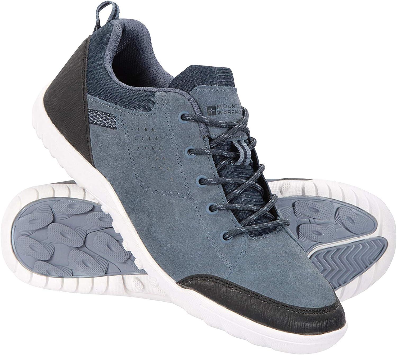 Transpirable para Caminar Parte Superior de Ante Vacuno Senderismo Mountain Warehouse Zapatos para Hombre Phantom II Forro de Malla protecci/ón de tal/ón y Puntera