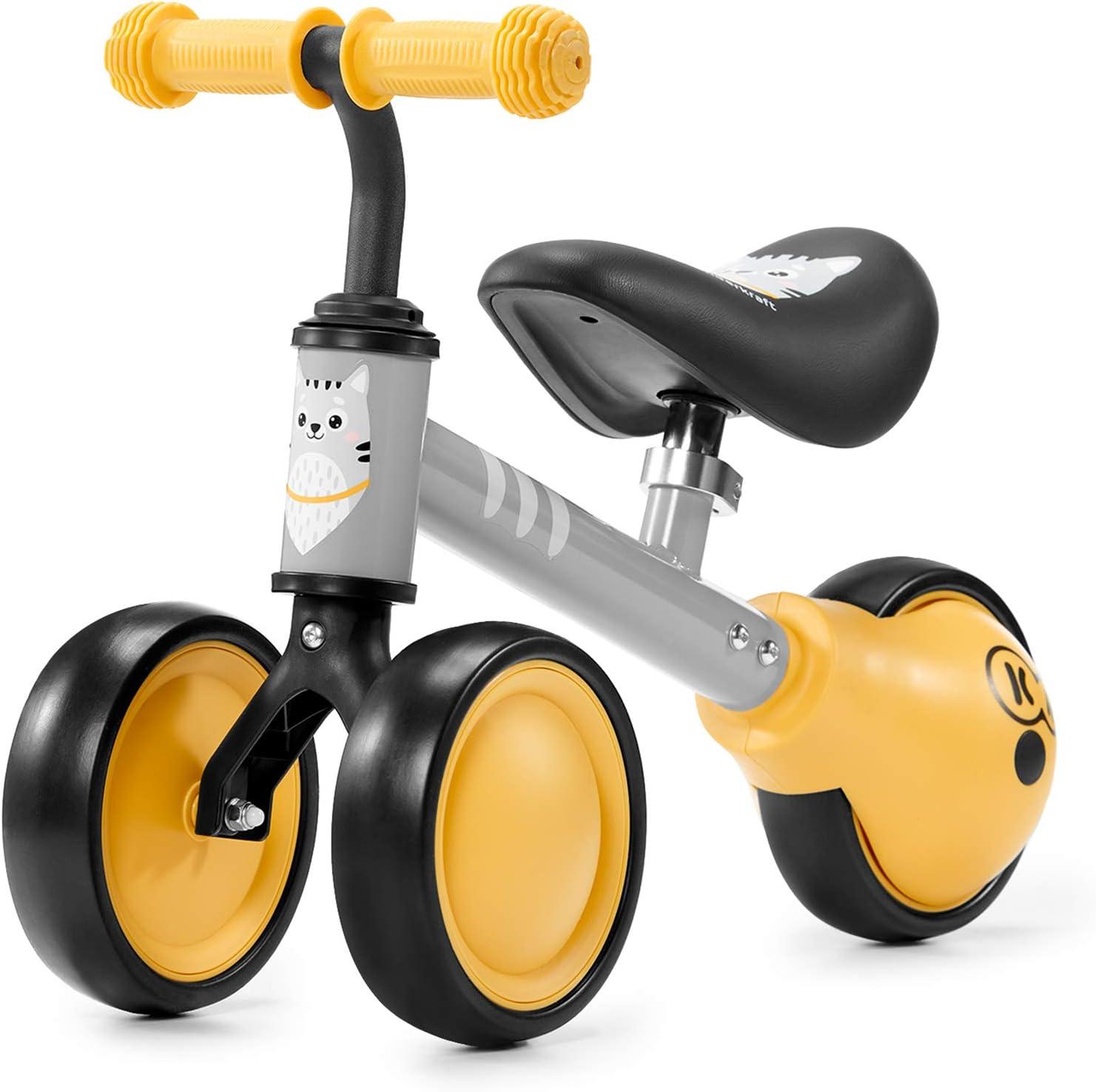 Kinderkraft Bicicleta sin Pedales CUTIE, Triciclo, Ajustable, Ultraligera, Miel