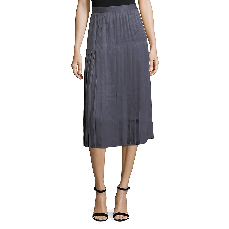 Lafayette 148 Womens Sabilla Posh Twill Pleated Skirt Admiral bluee 2, 4