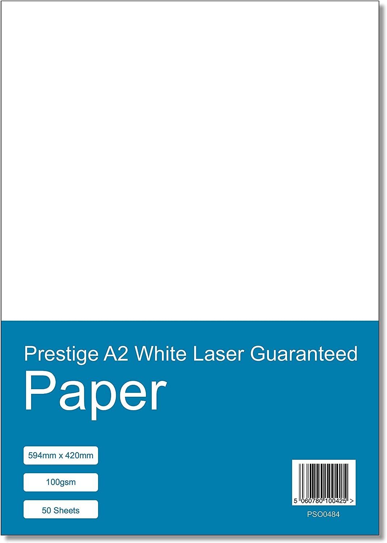 Prestige A3 White Laser//Inkjet Guaranteed Paper 100gsm 50 Sheets