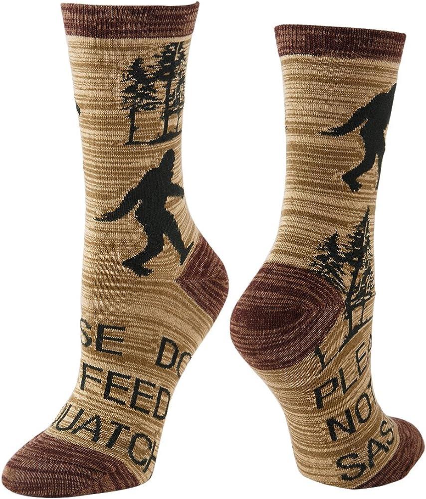 NEVSNEV Womens Casual Dress Crew Boot Socks Fashion Cotton Colorful Argyle Stripe Patterned All Seasons Cute Funny Bigfoot