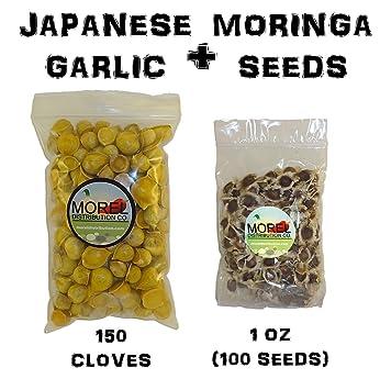 Amazon.com: Juego de ajos japoneses (150 clavos) + semillas ...
