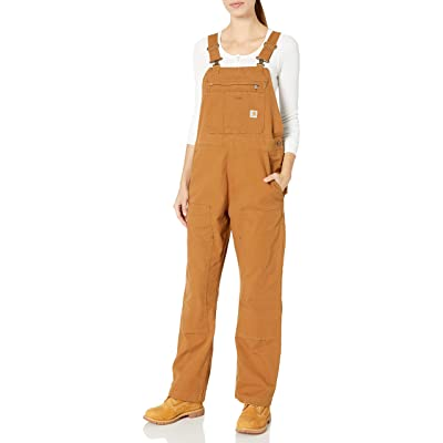 Carhartt Women's Crawford Double Front Bib Overalls: Clothing