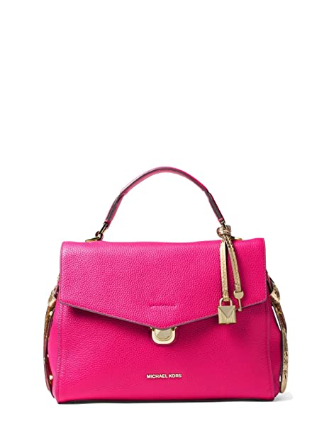 NEW MICHAEL KORS Bristol Medium Leather Satchel Bag, Soft