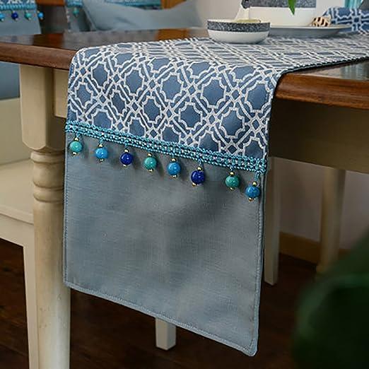 TABLE RUNNER Camino de mesa bordado jacquard europeo lujo mesa de ...