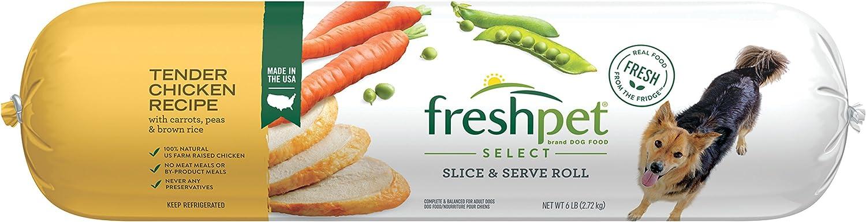 Freshpet Healthy Natural Dog Food, Fresh Chicken Roll, 6lb