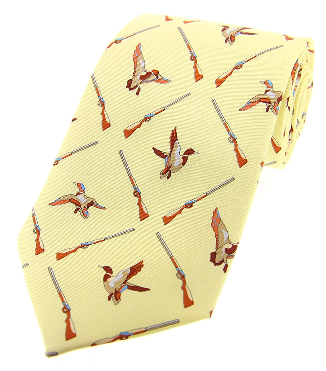 Soprano amarillo pastel Flying patos país seda corbata: Amazon.es ...