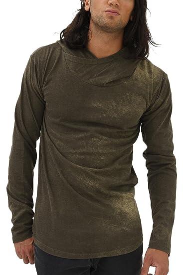 c64000404f50 trueprodigy Casual Herren Marken Long Sleeve einfarbig Basic, Oberteil cool  und stylisch mit Kapuze (