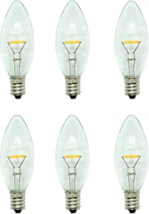 Celestial Lights Six LED Window Candle Replacement Bulbs for Plug-in Window Candles - Works with All Sensor, Timer, or Switch Models