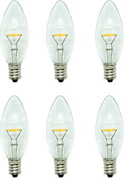 Celestial Lights Six LED Window Candle Replacement Bulbs ...