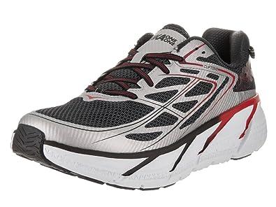 HOKA ONE ONE Mens Clifton 3 Silver/Formula One Running Shoe - 12 M