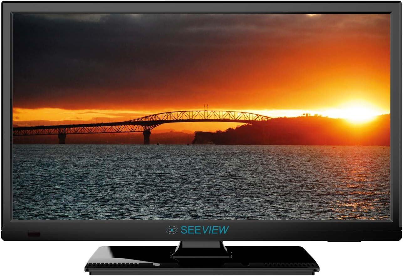Seeview 472629 - Televisor DVD LED HD DVB-T2, Color Negro Brillante (18.5