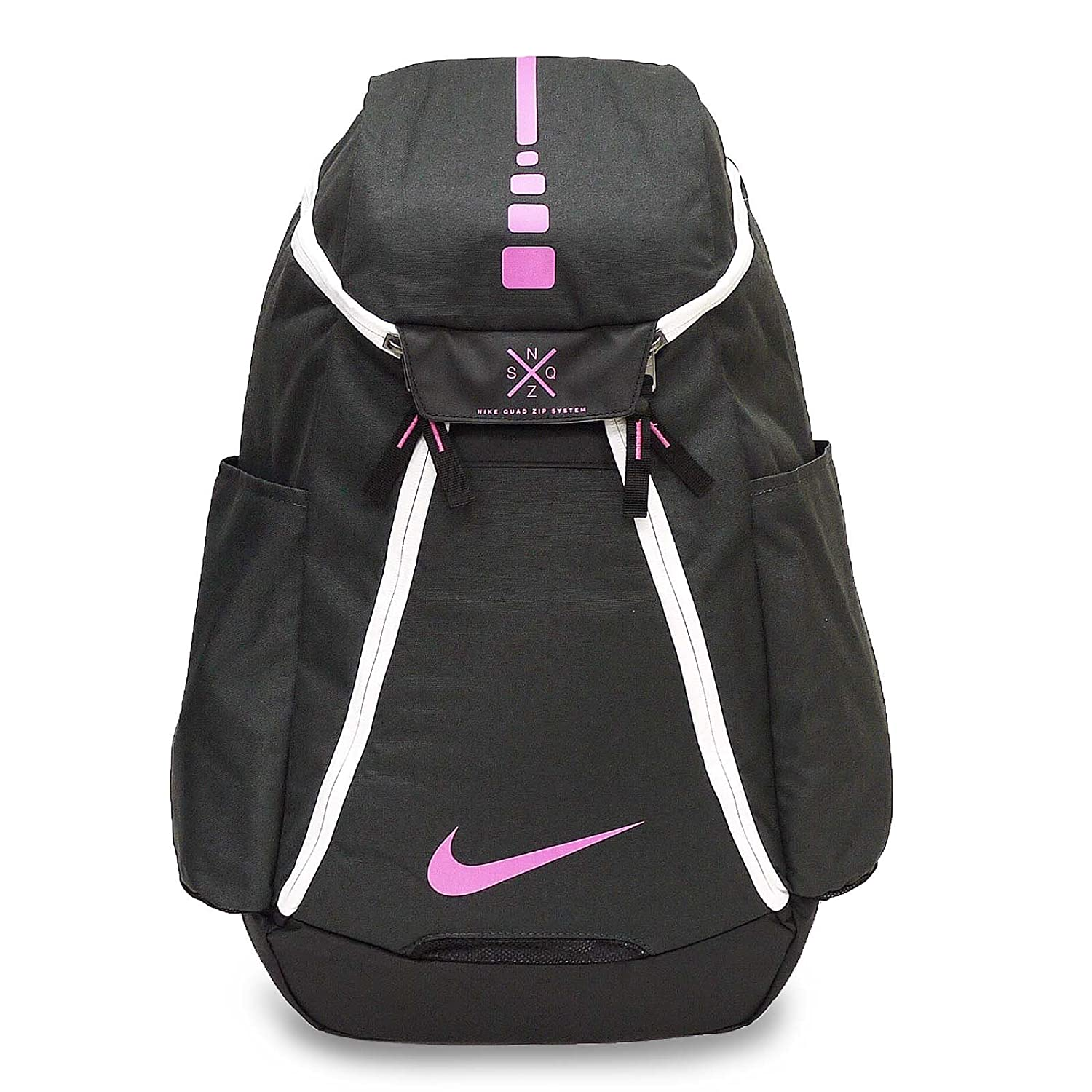 Nike Hoops Elite Max Air Team 2.0 Basketball Backpack Anthracite Black Pinkfire II Size One Size