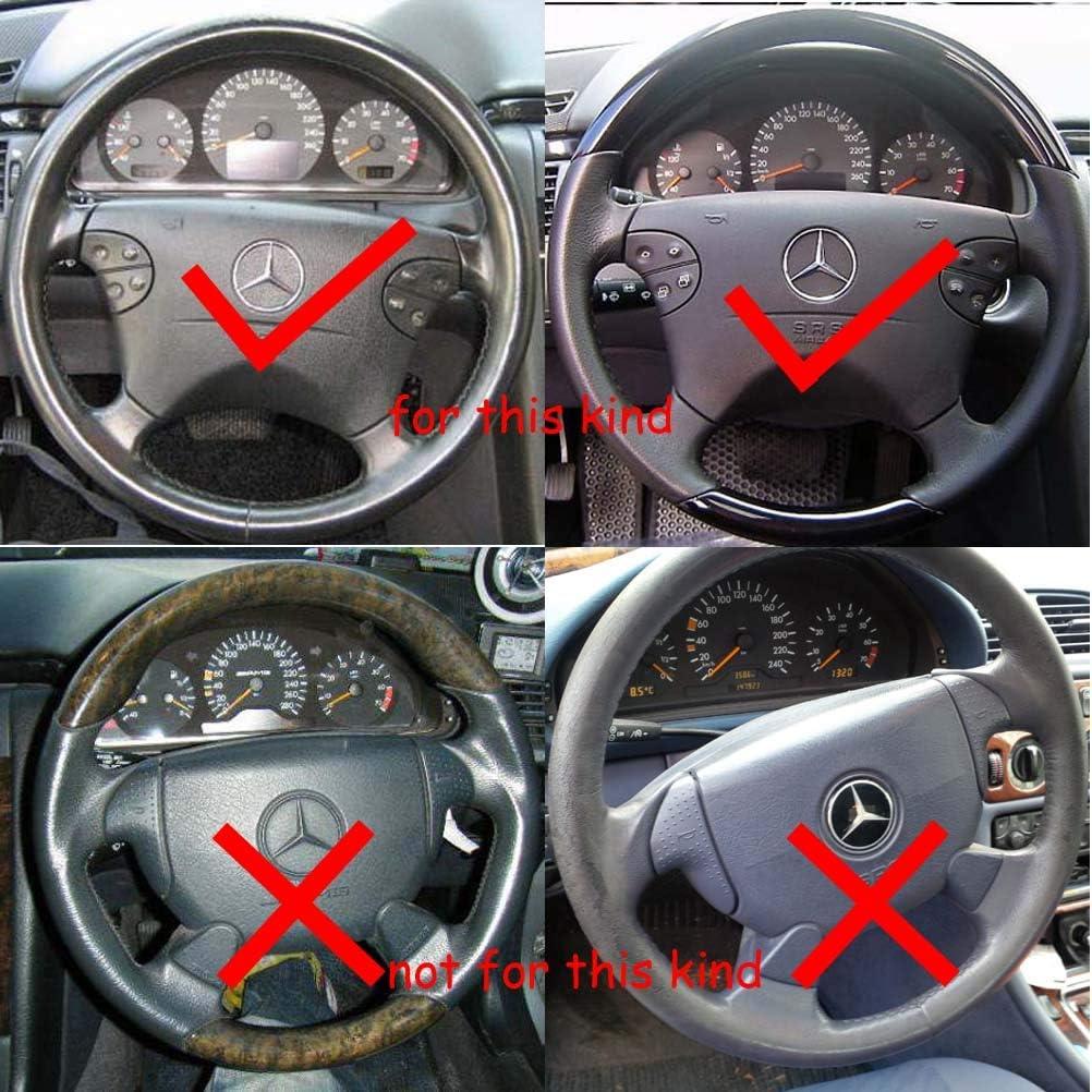 Schwarz Leder Hellbraun Lenkradbezug Lenkrad Abdeckung 1997 1998 1999 2000 2001 2002 W208 C208 A208 Clk 200 230 Clk320 Clk430 Clk55 Amg Auto