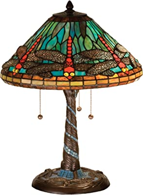 Dale Tiffany 8774 Red Dragonfly Tiffany Accent Lamp