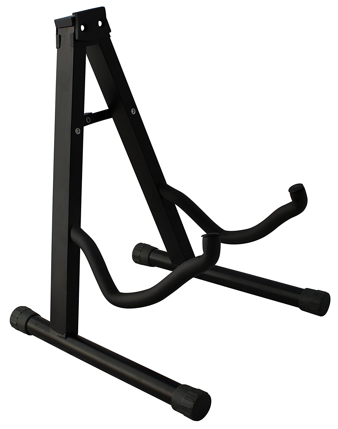 YMC Universal Folding 5 Holder Guitar Stand Rack with Secure Lock - for Acoustic and Electric Guitar
