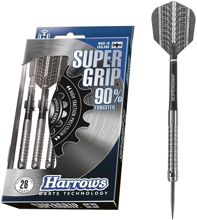 Ships w// Tracking Harrows Silver Arrows Chrome Knurled Steel Tip Darts 20 gm