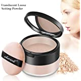Translucent Loose Setting Powder, Oil-control and Prevent Sweating Finishing Powder,Convering Whitening and Moisturizing Three in One Loose Face Powder