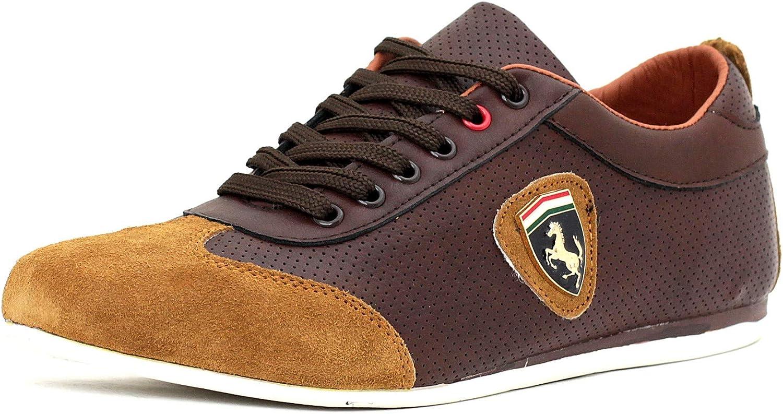 Zapatillas Informales Para Hombre De Piel Con Cordones Deporte Inteligentes zapatos núm. RU