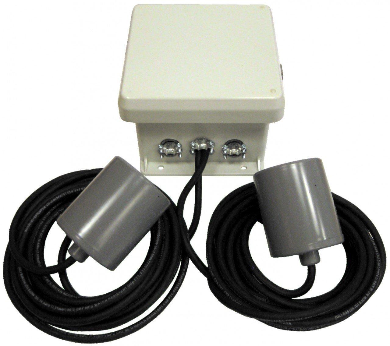 Multiquip CB3 caja de control bombas incluido con 2 interruptores de flotador mecánico sw1wopa, 120 V, Gris: Amazon.es: Amazon.es