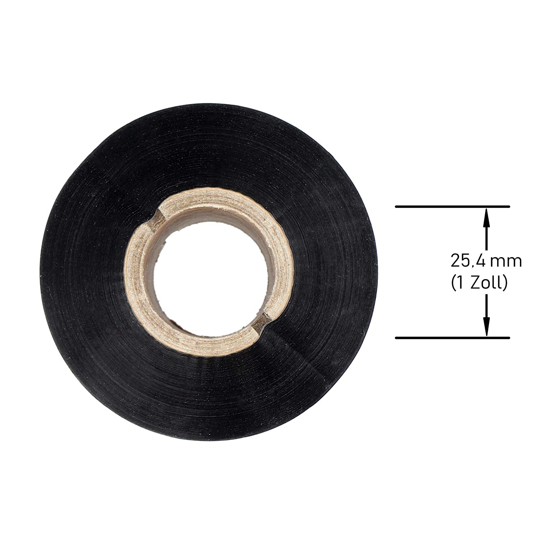Labelident Thermotransfer Farbband Wachs schwarz 50 mm x 300 m f/ür Etikettendrucker 2 Zoll Druckbreite zur Bedruckung von unbeschichteten Papieretiketten