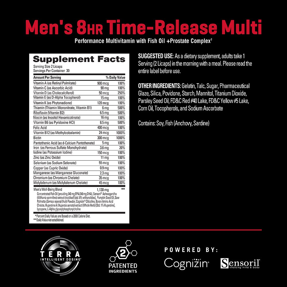 Amazon.com: PERFORMIX Mens 8hr TimeRelease Multi, Performance Multivitamin with Fish Oil + Prostate Complex, 60 Capsules: Health & Personal Care