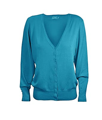 948e83d29d CIELO Basic V-Neck Long Sleeve Button Down Knit Sweater Cardigan at Amazon  Women s Clothing store