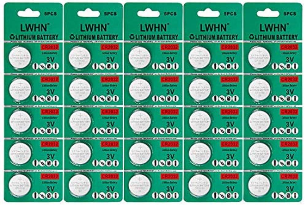 25 Pack Bateria CR2032 De litio 3V CR2032