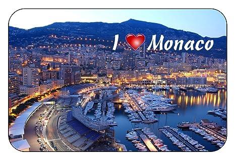 cadora rótulo magnético Frigorífico magnético I Love Monaco II JdfH1uiqB