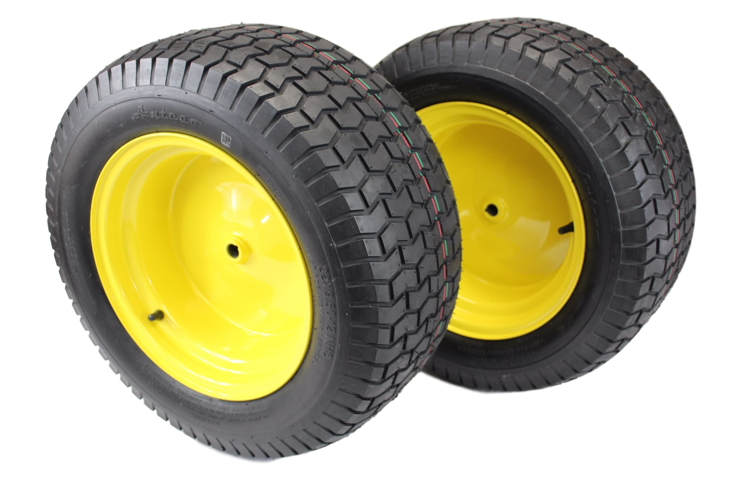 Antego (Set of 2) 22x9.50-12 Tires & Wheels 4 Ply for Lawn & Garden Mower Turf Tires