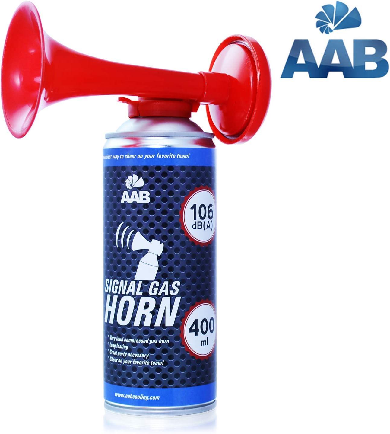 AAB Cooling Signal Gas Horn 400ml - Fanfarria de Gas Muy Fuerte, Butano, Bocina Aire Comprimido, Trompeta Bocina, Trompetas de Futbol