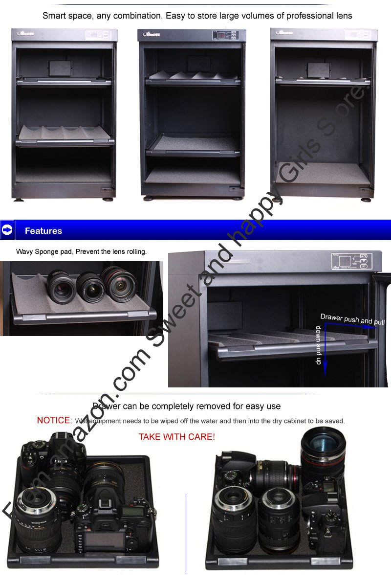 68l Electronic Automatic Digital Control Dry Box Cabinet Drybox Camera Mirrorless Canon Eos M10 Storage For Dslr Lens Photo