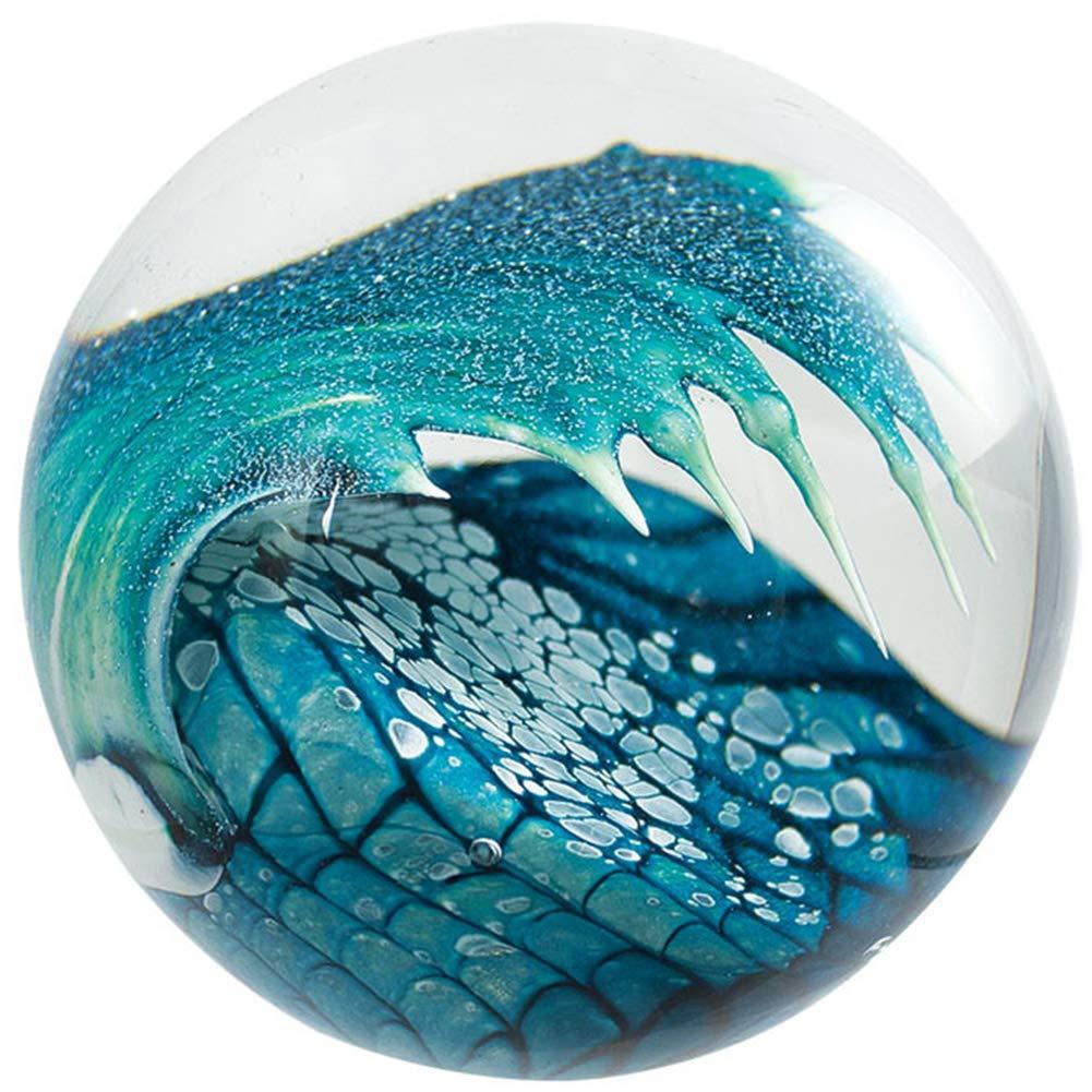 Glass Eye Studio Cresting Wave Blown Glass Paperweight by Glass Eye Studio